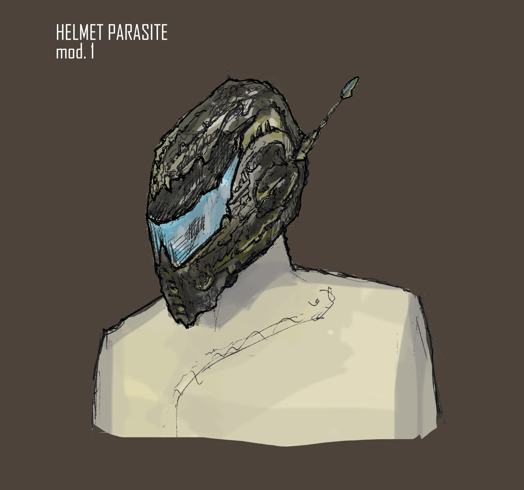 Helmet parasite